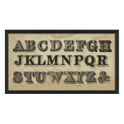The Artwork Factory - 'Typography I' Print - Forgot your alphabet? Wishing for a little old school? You've got it right here in a woodcutting-inspired print that's ready to hang.