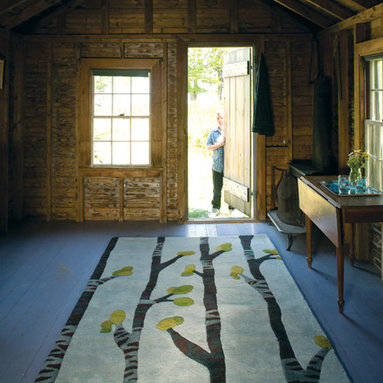 Birch Kitchen - A fresh and modern interpretation of a Birch forest. angela adams hand-tufted wool rugs are incredibly unique, textural and timeless. Made with 100% New Zealand wool. Multi-dimensional cut pile.