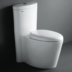 "Atlas International Inc - Dual Flush Toilet - Ariel Contemporary One Piece ""Monterey"" (White) - Modern Eco-Friendly One Piece White toilet. Ariel cutting-edge designed one-piece toilets with powerful flushing system. It's a beautiful, modern toilet for your contemporary bathroom remodel."