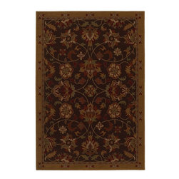 """Karastan - Traditional Knightsen Hallway Runner 2'4""""x8'3"""" Runner Coffee Brown-Sage Area Rug - The Knightsen area rug Collection offers an affordable assortment of Traditional stylings. Knightsen features a blend of natural Fog Gray-Dark brown color. Machine Made of Nylon the Knightsen Collection is an intriguing compliment to any decor."""