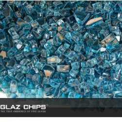 1/4 Inch Aqua Blue Fireglass (10lbs) - Aqua blue fireglass for your gas fireplace or fire pit is the contemporary alternative to faux logs and lava rock.