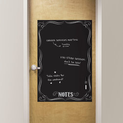 Back to School 2014 - Trendy and chic office decor idea with a black dry-erase bistro notes message board. Would look great in a dorm room or teen decor as well
