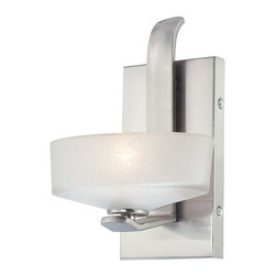 Minka Lavery - Minka Lavery 4221 1 Light Bathroom Sconce from the Eclant� Collection - Single Light Bathroom Sconce from the Eclant� CollectionFeatures: