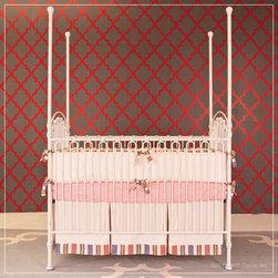 Venetian 3 in 1 Crib in Distressed White by Bratt Decor - Venetian 3 in 1 Crib in Distressed White by Bratt Decor