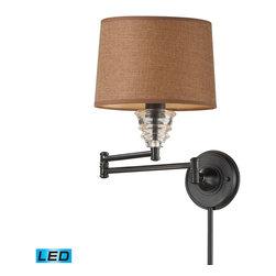 ELK Lighting - ELK Lighting 66814-1-LED Insulator Glass Oiled Bronze Wall Sconce - ELK Lighting 66814-1-LED Insulator Glass Oiled Bronze Wall Sconce