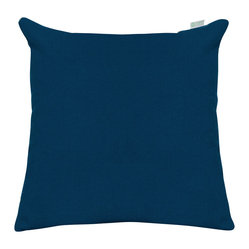 Outdoor Navy Blue Solid Large Pillow