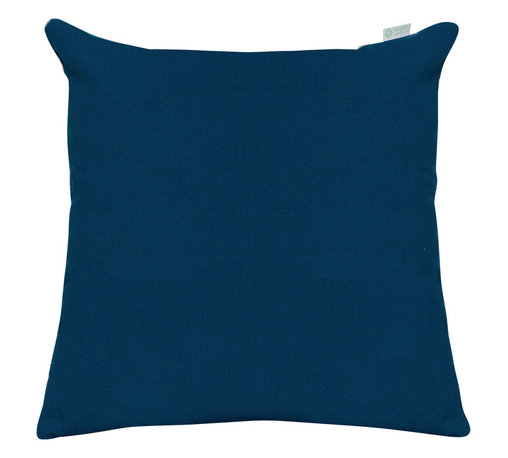 Majestic Home - Outdoor Navy Blue Solid Large Pillow - Style and comfort are just as important for casual spaces like the patio or den as they are anywhere else, so you need a throw pillow that's made to take the slings and arrows of everyday life. This pillow's cover is treated to withstand the elements and removable for easy cleaning of spills and smudges. It'll add some color and cushiness to your family parties and still look fresh the morning after.