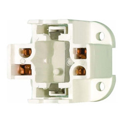Satco - Satco 90-1550 CFL Socket, 18W 4-pin, Vertical Mount - Fluorescent socket for 18W 4-pin lampsSold in increments of 10