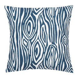 Look Here Jane, LLC - Willow Tree Nautical Blue Pillow Cover - PILLOW COVER
