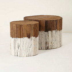 "Anthropologie - Dip-Dyed Side Table - WoodWipe with dry clothSmall: 18""H, 16"" diameterLarge: 18""H, 24"" diameterImported"
