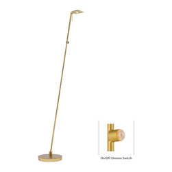 George Kovacs - P4324-248 George'S Reading Room-Tablet 1 Light Pharmacy Floor Lamps Honey Gold - Product