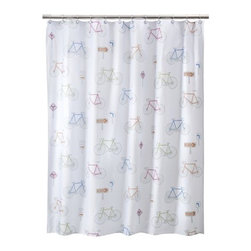 Bike Ride Shower Curtain - Yes, you can even bring your bikes into the bathroom!