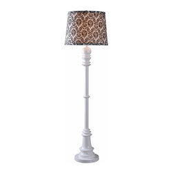 Kenroy - Kenroy-32257WH-Gambit - One Light Floor Lamp - *Shade Included.