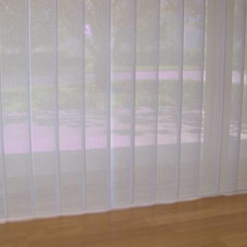 Modern Vertical Blinds by Magnolia Shutters & Blinds