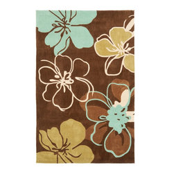 Safavieh - Country & Floral Modern Art 8'x10' Rectangle Brown - Multi Color Area Rug - The Modern Art area rug Collection offers an affordable assortment of Country & Floral stylings. Modern Art features a blend of natural Brown - Multi Color color. Hand Tufted of Polyester the Modern Art Collection is an intriguing compliment to any decor.