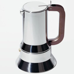 9090 Espresso Coffee Maker by Alessi - Get a double jolt from your morning coffee. First from this gorgeous espresso maker from Alessi, then from the java itself.
