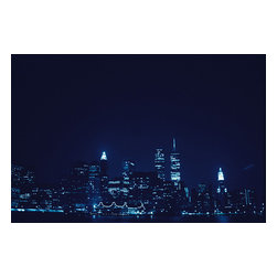 Custom Photo Factory - Beautiful Skyline at the Nighttime.  Canvas Wall Art - Beautiful Skyline at the Nighttime.   Size: 20 Inches x 30 Inches . Ready to Hang on 1.5 Inch Thick Wooden Frame. 30 Day Money Back Guarantee. Made in America-Los Angeles, CA. High Quality, Archival Museum Grade Canvas. Will last 150 Plus Years Without Fading. High quality canvas art print using archival inks and museum grade canvas. Archival quality canvas print will last over 150 years without fading. Canvas reproduction comes in different sizes. Gallery-wrapped style: the entire print is wrapped around 1.5 inch thick wooden frame. We use the highest quality pine wood available. By purchasing this canvas art photo, you agree it's for personal use only and it's not for republication, re-transmission, reproduction or other use.