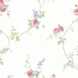 Floral Print in Pink, Violet, and Lavender - MD29402 - Collection:Silk Impressions