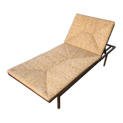 Patio Raffia and Wrought Iron Daybed - Add some high style to your outdoor area with a raffia and wrought iron daybed. This is possibly the chicest lounger ever.