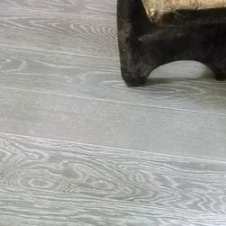 "The Barn Star Wood Flooring Collection - Cape Cod Gray 112 engineered White Oak flooring 9/16"" thickness."