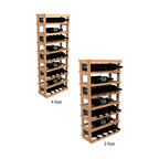 Wine Cellar Innovations - Winemaker Series Open Vertical Wine Display - This wine rack display is flexible and can be used to display 5 wine bottles left to right, or 3 wine bottles front to back. Assembly Required.