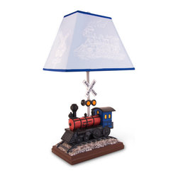 Bright Light Partners - Beautiful Hand Painted Train Lamp - One of our bestsellers, this lamp is exclusively made and designed by Bright Light Partners.  One of our favorites!