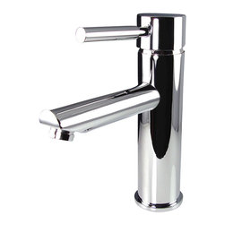 Fresca - Fresca Tartaro Single Hole Mount Bathroom Vanity Faucet - Chrome - This single hole faucet is made from heavy duty brass with a chrome finish.  Features ceramic mixing valve for longevity and watertight functionality.
