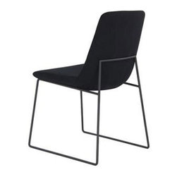 Laura Dining Chairs in Black - Set of 2 - Kick back and enjoy thoughts of the ocean in this comfy black chair. Better yet? Turn on the sound of waves crashing in the background for the ultimate relaxation experience.