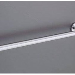 """Kohler - Kohler K-14451-CP Polished Chrome Stillness Stillness 24"""" Towel Bar - Stillness(R) 24"""" towel bar Simplified form and detail embody the pared-down approach of this Stillness 24"""" towel bar. Streamlined elements and minimal design lend aesthetic functionality to a subtle décor, while clean angles and quiet lines calm a spa or retreat environment. Tools are included to simplify installation. 25-11/16""""W x 2-1/2""""D x 1-7/8""""H  Completes Stillness design solution with KOHLER(R) faucets and fixtures  Solid brass construction for durability and reliability"""