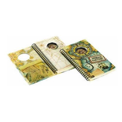 """Kid's Compass Journal - The kid's compass journal measures 5.1 x 8.1 x 0.8"""". Chart your travels...working compass and journal in one."""