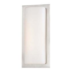 Minka George Kovacs - Minka George Kovacs Thirty Light Brushed Aluminum Etched Opal Glass Wall Light - This Thirty Light Wall Light has a Brushed Aluminum Finish and Etched Opal Glass. It is LED, and ADA Compliant.