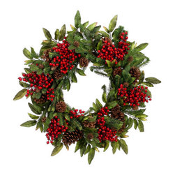 Silk Plants Direct - Silk Plants Direct Cone, Berry and Pine Wreath (Pack of 2) - Pack of 2. Silk Plants Direct specializes in manufacturing, design and supply of the most life-like, premium quality artificial plants, trees, flowers, arrangements, topiaries and containers for home, office and commercial use. Our Cone, Berry and Pine Wreath includes the following: