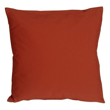 Pillow Decor - Pillow Decor - Caravan Cotton Rust 18 x 18 Throw Pillow - Bold and beautiful, the Caravan Cotton 18 x 18 Throw Pillows are the ideal pillows for adding a simple splash of color to your decor. With 3% spandex added to improve durability and wash ability, these soft cotton pillows will provide long lasting comfort.