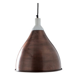 Eloise Pendant in Copper - We think the best kitchens have timeless elegance and appeal and the Eloise Pendant in Copper delivers exactly that. The alluring pendant features a shade finished in burnished copper that lends an antique look and simple rolled lip. It's capped with  marble to add a luxurious, rich touch to the overall aesthetic.