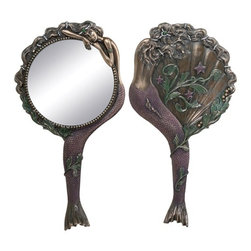 Summit - Art Nouveau - Collectible Mermaid Hand Mirror Nymph Model Decoration - This gorgeous Art Nouveau - Collectible Mermaid Hand Mirror Nymph Model Decoration has the finest details and highest quality you will find anywhere! Art Nouveau - Collectible Mermaid Hand Mirror Nymph Model Decoration is truly remarkable.