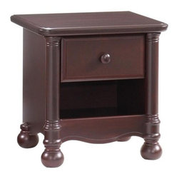 "Natart - Natart Avalon Night Stand, Cocoa - The Avalalon Furniture Collection, by Natart, is a traditional, unisex collection with a majestic presence that boasts a robust one-piece column with bun foot and 100% solid wood composition. For the nursery you can choose from three crib styles: the Barcelona Classic, the Joshua ""3-in-1"" (Crib to Twin) Convertible or the Avalon ""5-in-1"" Convertible. A selection of complementary furniture pieces, offered in two distinct finishes, helps to round out this comfortable collection."