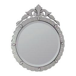 Ren-Wil - Ren-Wil MT428 Portrait Mirror in All Glass - Venetian bevel mirror