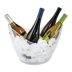 True Frabrication - Cold Drinks Ice Bucket by True Fabrication - Our larger modern ice bucket that holds up to 4 bottles of wine or champagne on ice.