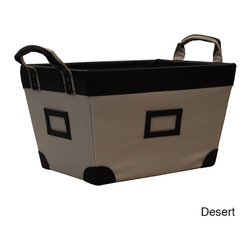 None - Large Decorative Storage Basket - Organize your office or home with this decorative large basket. With six colors to choose from,this basket blends well into most homes,and with an 11 pound capacity,it easily stores a variety of items including book,shoes,and toys.