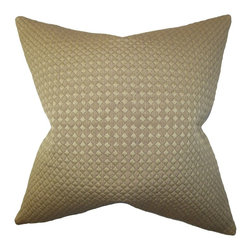"The Pillow Collection - Cessair Solid Pillow Olive Green 20"" x 20"" - First-class and chic, this decor pillow finishes off your living space in a fashionable manner. In olive green hue, this square pillow is exceptionally stylish. It lends a pop of color to your sofa, bed or sectional. Constructed from 100% soft and high-quality cotton material, this throw pillow ensures long lasting quality. Hidden zipper closure for easy cover removal.  Knife edge finish on all four sides.  Reversible pillow with the same fabric on the back side.  Spot cleaning suggested."