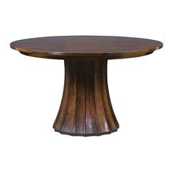 Stickley Split Base Pedestal Table 7685-52-2LVS -