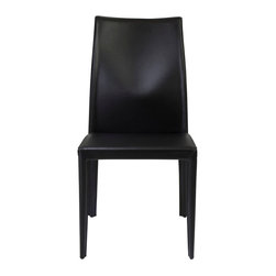 Eurostyle - Dafney Side Chair (Set Of 2)-Blk - Fully-upholstered in regenerated leather
