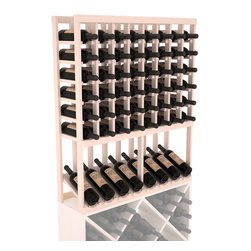 Wine Racks America - High Reveal Wine Rack Display in Pine, White Wash Stain - A highly decorative wine rack with all the elegance and functionality a wine enthusiast could want. Emphasize your favorite wine bottles with display rows and capture onlookers with dramatic lighting assemblies. The full beauty of this rack is maximized paired with any member from our wine rack family.