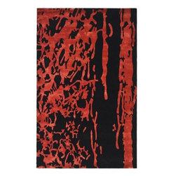 Safavieh Soho SOH326B Black - Red Area Rug - Safavieh Soho SOH326B Black - Red Area Rug