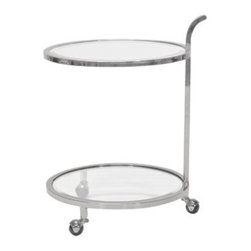 Ladner Nickel Bar Cart - Ladner Nickel Bar Cart