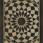 flooring - These wonderful vintage designs are printed on durable, certified non-slip, lay flat vinyl flooring that may be used indoors as well as outdoors. Use them in kitchens, hallways, entry areas, game rooms, basements, patios, decks, any high traffic area where you need some decorative, durable flooring. It's an easy way to add some pizzazz to the room and floor! various sizes available.  Can be purchased in 8 foot wide sections and can be glued to floor.