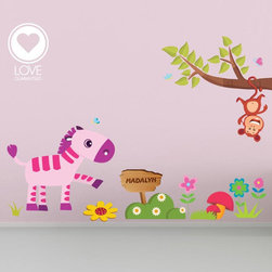 Jungle animals decal for nursery-personalized with name-Removable&Reusable FABRI - ABOUT OUR MATERIAL