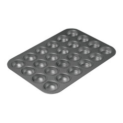 Chicago Metallic - Chicago Metallic Nonstick 24-Cup Mini Muffin Pan - Never fear a bake sale again. This 24-count mini muffin pan allows you to pop them out quickly, with even baking and browning. Deliciousness is in the house!