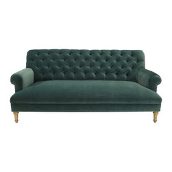 Cobble Hill Prince Tufted Sofa, Vance/Bermuda - This is one classy sofa! I'd love to use it for mix-and-match styling in my living room.