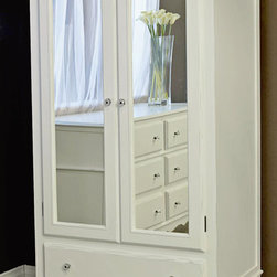 Newport Cottages - Celine Armoire with Mirrored Doors - Celine Armoire with Mirrored Doors